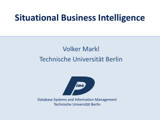 Situational Business Intelligence