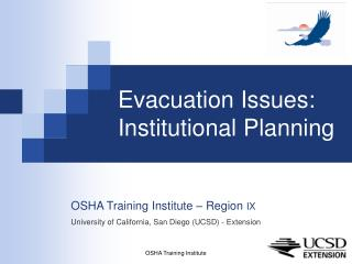 Departure Issues: Institutional Planning
