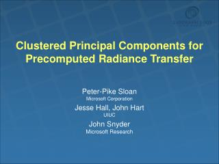 Grouped Principal Components for Precomputed Radiance Transfer