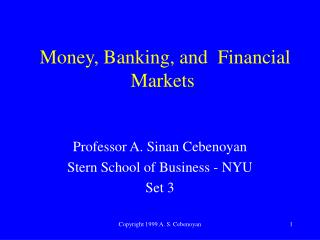 Cash, Banking, and Financial Markets