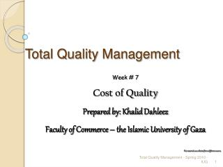 All out Quality Management