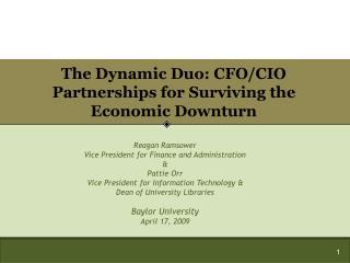The Dynamic Duo: CFO