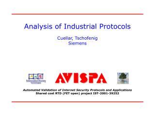 Examination of Industrial Protocols Cuellar, Tschofenig Siemens