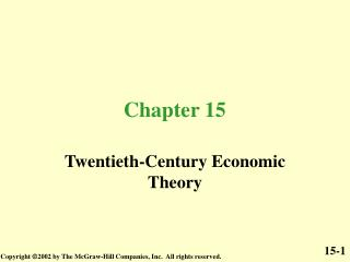 Twentieth-Century Economic Theory