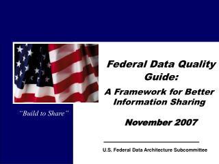 Government Data Quality Guide: November 2007