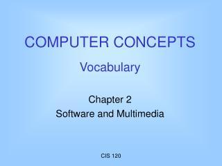 PC CONCEPTS Vocabulary