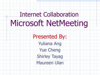 Web Collaboration Microsoft NetMeeting