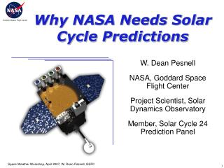 Why NASA Needs Solar Cycle Predictions