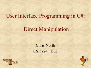 Client Interface Programming in C: Direct Manipulation
