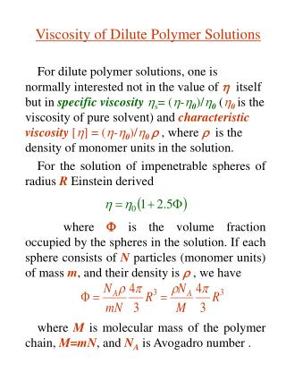 For weaken polymer arrangements, one is regularly intrigued not in the estimation of itself but rather in particular co