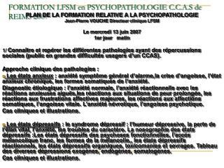 Arrangement LFSM en PSYCHOPATHOLOGIE C.C.A.S de REIMS 2007