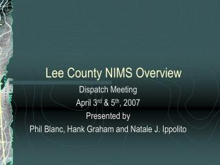 Lee County NIMS Overview