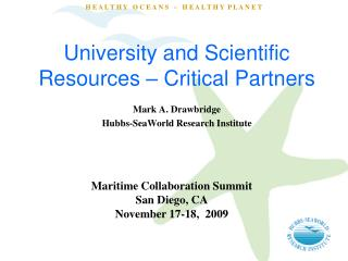 College and Scientific Resources Critical Partners