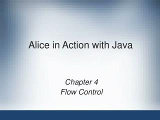 Alice in real life with Java