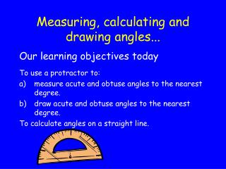 Measuring, ascertaining and drawing points...