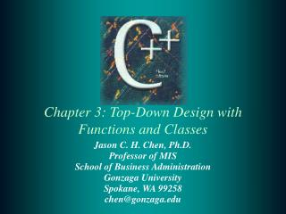 Section 3: Top-Down Design with Functions and Classes