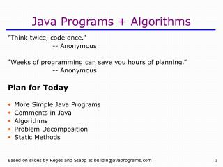 Java Programs Algorithms
