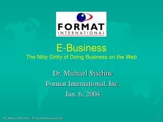 E-Business The Nitty Gritty of Doing Business on the Web