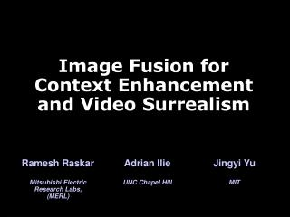 Picture Fusion for Context Enhancement and Video Surrealism