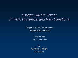 Remote RD in China: Drivers, Dynamics, and New Directions