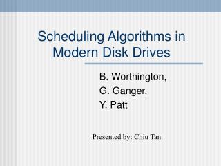 Booking Algorithms in Modern Disk Drives
