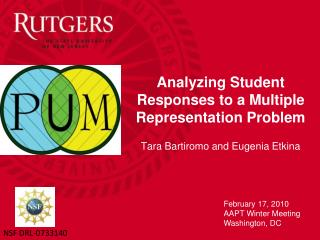 Breaking down Student Responses to a Multiple Representation Problem