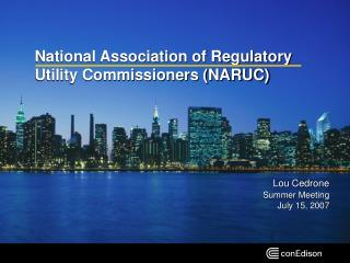 National Association of Regulatory Utility Commissioners NARUC
