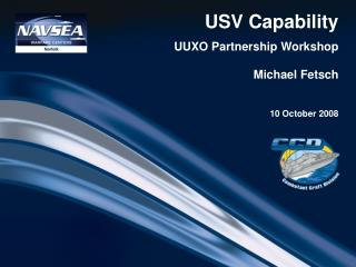 USV Capability UUXO Partnership Workshop