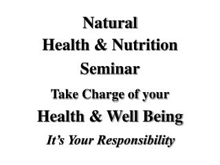 Wellbeing Nutrition