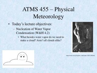 ATMS 455 Physical Meteorology