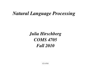 Common Language Processing