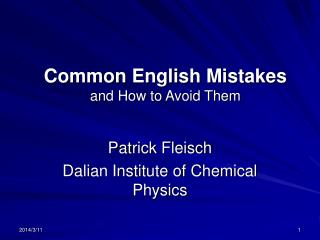 Regular English Mistakes and How to Avoid Them