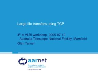 Vast document exchanges utilizing TCP