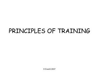 Standards OF TRAINING