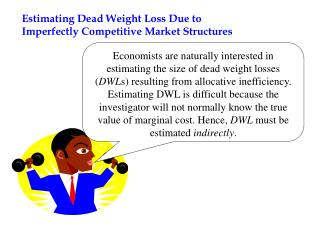 Evaluating Dead Weight Loss Due to Imperfectly Competitive Market Structures