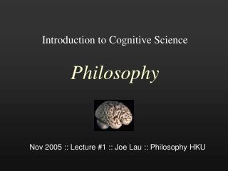 Prologue to Cognitive Science Philosophy