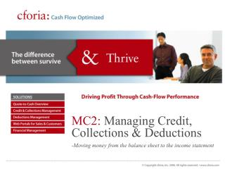 MC2: Managing Credit, Collections Deductions - Moving cash from the asset report to the wage articulation