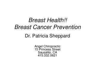 Bosom Health Breast Cancer Prevention
