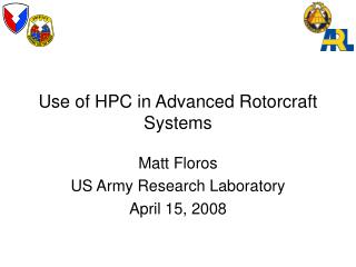 Utilization of HPC in Advanced Rotorcraft Systems