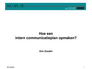 Tool een assistant communicatieplan opmaken