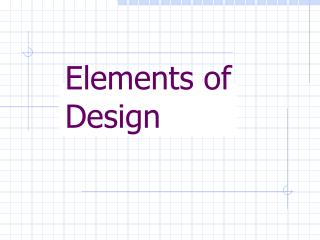 Components of Design