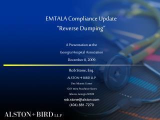 EMTALA Compliance Update Reverse Dumping