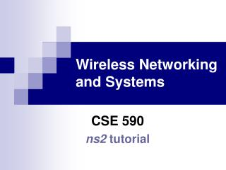Remote Networking and Systems
