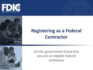 Enrolling as a Federal Contractor