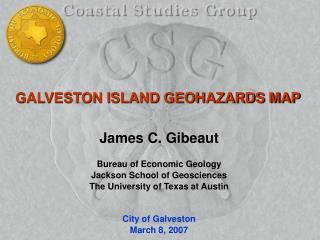 GALVESTON ISLAND GEOHAZARDS MAP