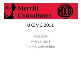 UKCMG 2011