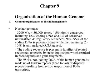 Part 9 Organization of the Human Genome
