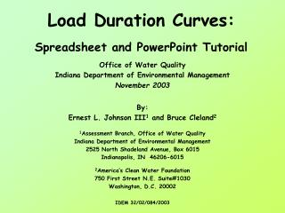 Load Duration Curves: Spreadsheet and PowerPoint Tutorial