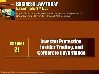 Financial specialist Protection, Insider Trading, and Corporate Governance