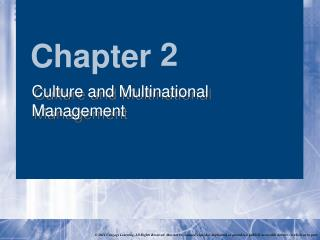 Society and Multinational Management
